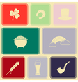 Seamless background with saint patricks day icons vector image