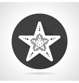 Starfish black round icon vector image
