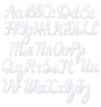 Writing alphabet white vector image