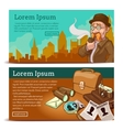 Detective Agency Horizontal Banners vector image