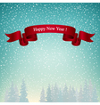 Happy New Year Landscape in Turquoise Shades vector image vector image