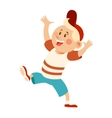 Flat happy Kid vector image