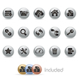 Hosting Icons MetalRound Series vector image vector image