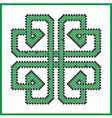 Celtic endless knot in square clover shape vector image