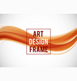 abstract soft art design template vector image
