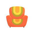 colorful comfortable armchair vector image