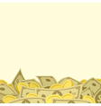 Background with money vector image vector image