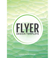 Pastel modern mint polygonal brochure flyer vector image