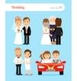 Wedding people vector image