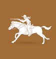 cowboy on horse aiming rifle vector image