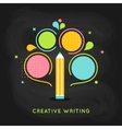 Creative Writing Plan Infographics Template on vector image