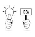 lightbulb in hand vector image