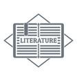literature logo simple gray style vector image