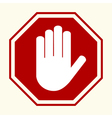 Stop hand sing vector image