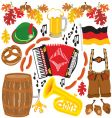 Oktoberfest party clipart elements vector image