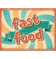 Fast food background in retro style vector image vector image