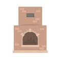 home fireplace traditional oven vector image