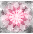 Pink-gray floral seamless pattern vector image