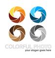 Colorful foto logo 4in1 vector image vector image