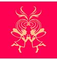 two symmetric fairies vector image vector image
