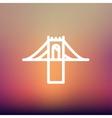 Bridge thin line icon vector image