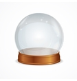 empty transparent crystal ball vector image vector image