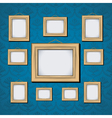 wooden picture frame vector image vector image