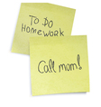 call mom reminder vector image vector image