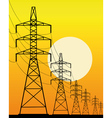 high voltage line vector image vector image