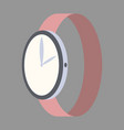 icon in flat design fashion wrist watch vector image