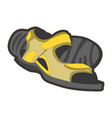 yellow male sandals vector image
