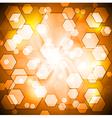Orange shiny background vector image vector image