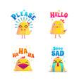 funny chicken doodle set vector image