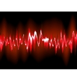 Sound waves on black background EPS10 vector image vector image