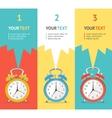 wakeup clock option banner Flat Design vector image vector image