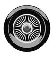 Retro car wheel vector image