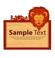Wood board with lion for your design vector image