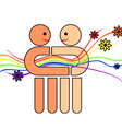 gay couple vector image vector image