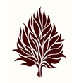 Stylized tree leaf on a light background vector image vector image
