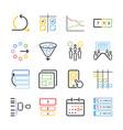 agile icon set vector image