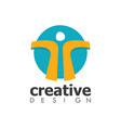 circle people creative logo vector image