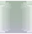 Classical greek or roman columns vector image