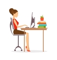 Correct posture vector image