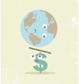 Crisis finance currency dollar balance vector image
