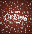 Merry Christmas Landscape red background vector image