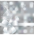 Silver winter background with snowflakes vector image