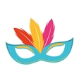mask fool funny icon vector image
