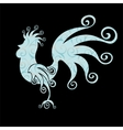 Cock Vintage fabulous silhouette pattern bird vector image