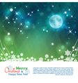 Christmas abstract moon stars background vector image