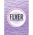 Pastel modern purple polygonal brochure flyer vector image